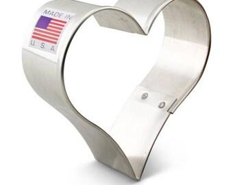"""Heart Cookie Cutter 2 5/8""""-Ann Clark-Made in USA"""