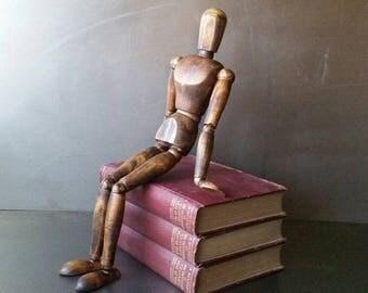 X-Large articulating artist human figure. Mannequin wood body artist drawing model.
