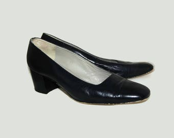 80's Stockmann black leather shoes