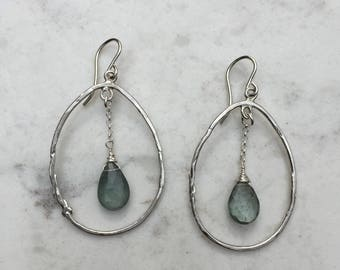 Aquamarine Swing Drop Earrings
