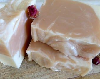 Rose Geranium & Patchouli. Handmade Soap. Fresh Scrubs, Artisan Soap. Natural Soap. Skin care. Gentle Soap