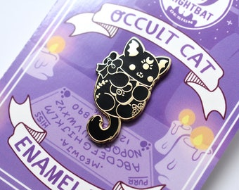 Kawaii Occult Cat Enamel Pin