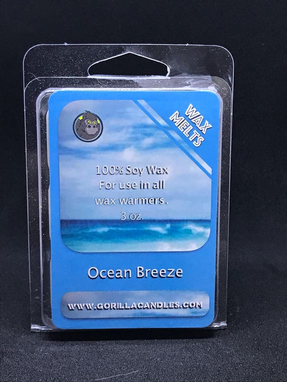 Wax Melts Highly Scented Clamshell Breakaway Cubes Ocean Breeze