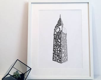 By Seeing London... - Typography Poster Print