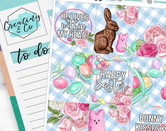 Happy Easter Weekly Planner Kit for No-White Space and White Space Planners  - WK06