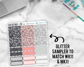 Faux Glitter Functional Sampler to match Blossom - GS11