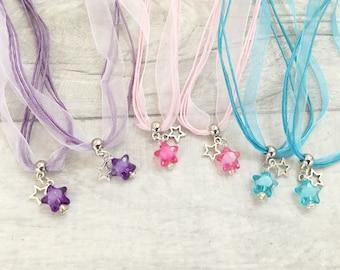 Star Necklace, Party Bag Filler, Girl Party Favor, Space Party, Birthday Favors, Party Favors, Loot Bag Filler