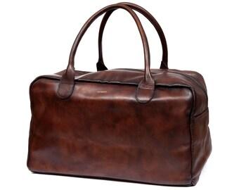 Vintage leather Weekend bag - Brown