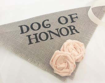 Custom Flower Colors Gray Dog Wedding Bandana Engagement Photos Save the Date Cards Dog of Honor Proposal Wedding Accessories