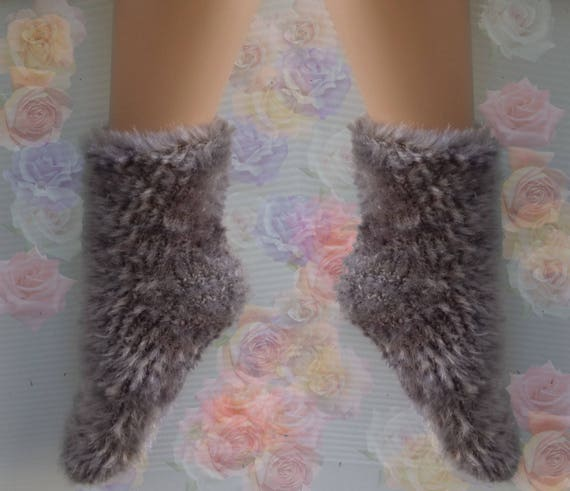 Hand Knitted Socks For Sale Mens Womens Warm Slipper Cozy Home Comfort
