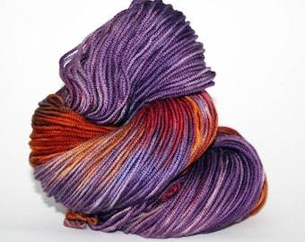 Hand-Painted Worsted Superwash Merino Wool Yarn - Deep Sunset