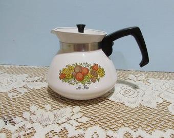 Corning Ware Spice O Life Teapot ~ 6 Cup ~ Retro Kitchen ~ P104