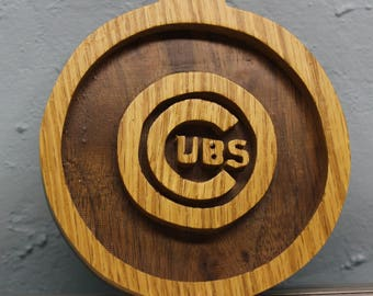 scroll saw cut chicago cubs hanging ornament