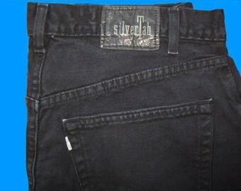 Levis Silvertab Baggy 36 W x 34 L Black Vintage