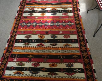 Handmade Moroccan Rug Glaoui 100% Wool