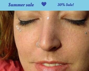 Tribal Nose Ring, Silver nose ring, nose ring, Delicate nose ring, Nose Hoop, nostril ring, 925 Silver nose hoop, Indian nose ring, septum