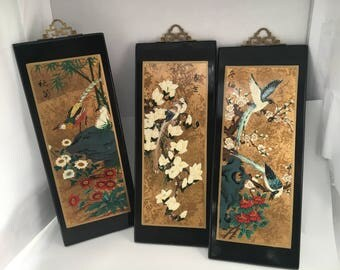 Charmant Vintage Chinese Wall Hangings   Set Of 3   Chinese Wall Hangings   Chinese  Wall Panels