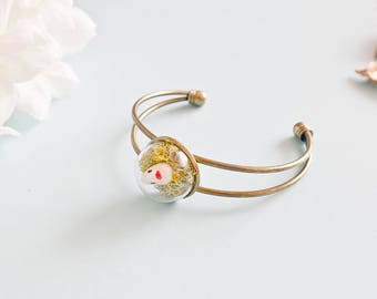 "Nature - ""Enako"" - Made bubble bracelet in Poetic Touch"