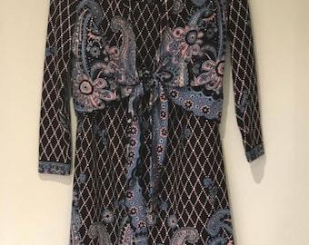 Seventies Psychadelic Maxi Skirt Suit