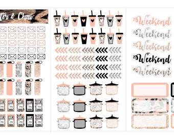 148-Functional Floral foldable sticker book