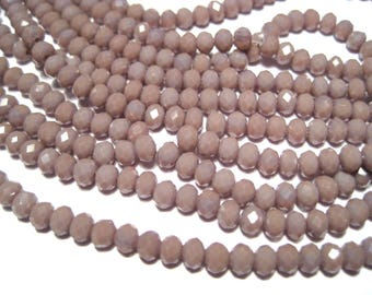 1 Strand Light Purple Faceted Rondelle Glass Beads 4x3mm ( No.22)