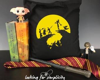 Halloween Favorite Crossovers Tote Bag - Nightmare Before Christmas / Harry Potter, NBC / Ghostbusters, NBC / Great Pumpkin Charlie Brown
