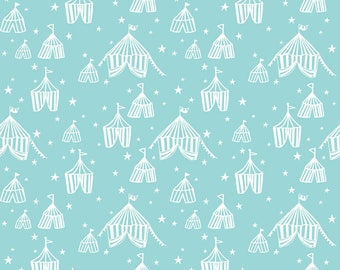 Fabric -Blend Fabrics - Calliope collection - blue big top - medium weight woven cotton fabric.