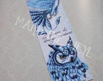 """Bookmark """"book of strange creatures"""" ice Phoenix"""