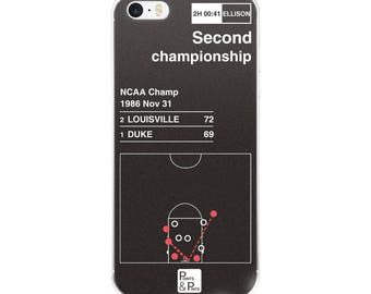 Louisville Basketball iPhone Case: Second championship (1986)