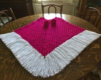 Crocheted Poncho--Teen/Adult