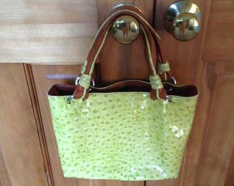 Cecconi Piero Yellow Leather Tote Handbag Italy