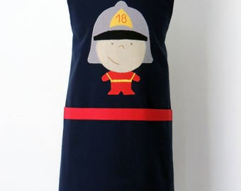 TO order - kitchen-fireman - Navy and red apron
