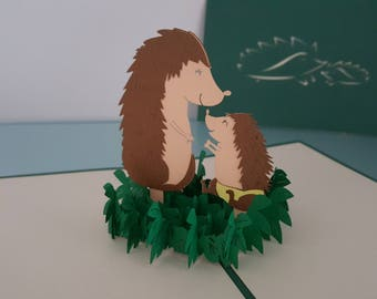 hedgehog pop up card baby hedgehog etsy 4658