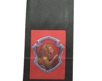 Party Bags. Harry Potter / Hogwarts Inspired. 4 pack. Gryffindor.