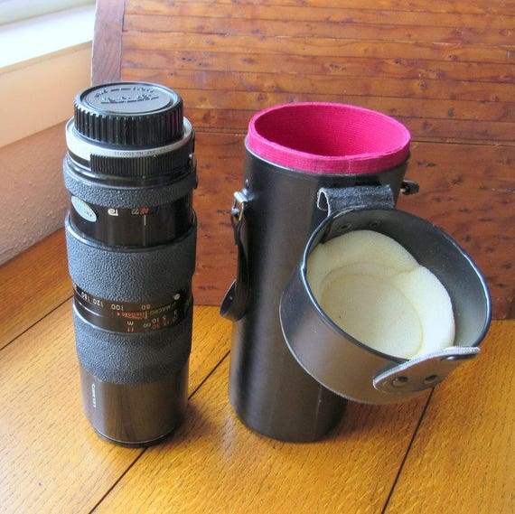 Tamron Telephoto Lens 80-250 Adaptall In Fitted Black Leather