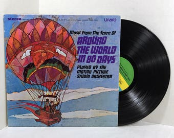 Music From The Score Of Around The World In 80 Days vinyl record 1968 Motion Picture Studio Orchestra VG+