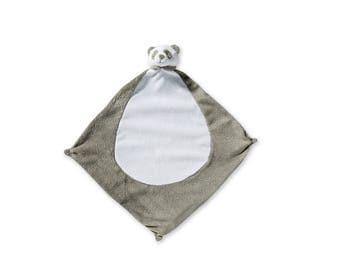 Monogrammed Panda Lovie / Angel Dear / Personalized Blankie / Security Blanket / Baby Blankie Gift / Animal Blankie