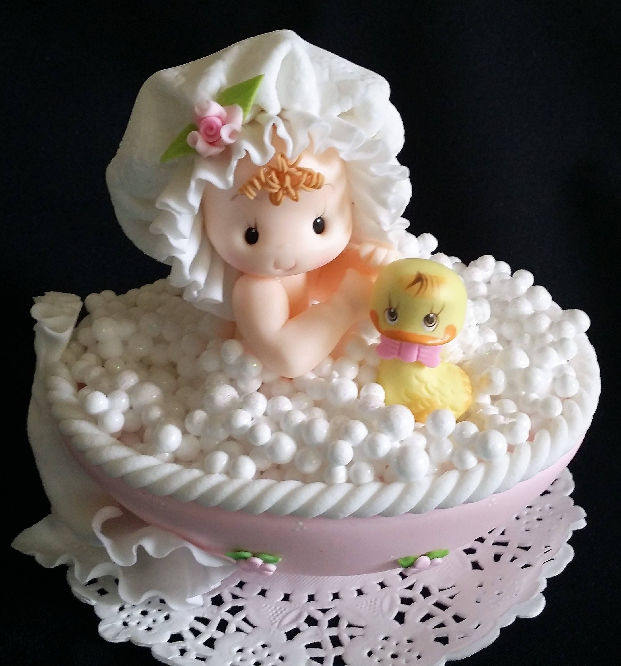 Baby Duck Cake Topper Baby and Duck Cake Topper Baby Shower Cake