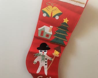 vintage mid century Christmas stocking- made in japan - XL size