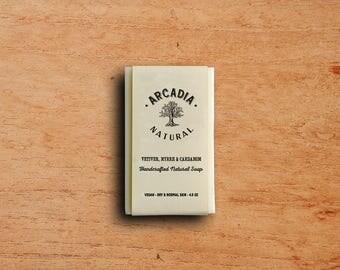 Vetiver, Myrrh & Cardamom Soap, Cold Process Soap, Moisturizing body soap, Natural Soap, Vegan Soap, Handcrafted Soap Bar
