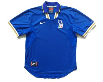 1996 97 Nike Premier Italy Italia soccer jersey authentic nike futbol replica football jersey size large