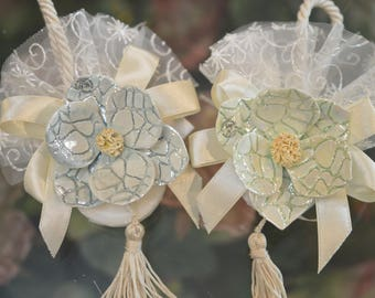 Wedding Favor Soap, Bridal Shower Soap Favors, Favors Soap with authentic Capodimonte Made in Italy Flower, Elegant Soap Favors LOT of 24