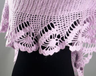 Purple Shawl,Wool Scarf,Wool Shawl,Mohair Shawl,Bridal Shawl,Party Scarf,Handmade Shawl,Wedding Shawl,Women accessories,Knitted Shawl