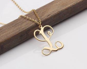Personalized Monogram Necklace - Tiny Monogram Necklace Initials Name Necklace - Monogram Necklace - Bridesmaid Gift - Wedding Necklace