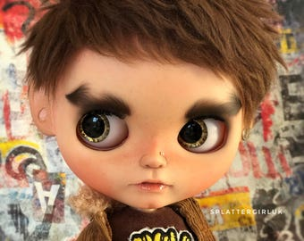 AVAILABLE – Bear – Custom fake blythe boy by SplattergirlUK –  layaway accepted