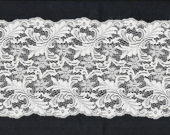 LACE Stretch natural flowers and leaves Flowery Lace 15.5 cm