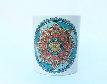 Cup with own design mandala OM