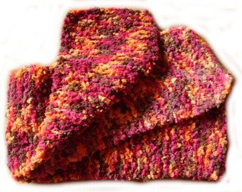 Child scarf multicolor plush yarn