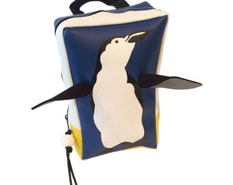 Toddler Penguin Backpack by Little Packrats, Gift for Nature Lover, Kid Size Backpack Great for Snacks and Toys