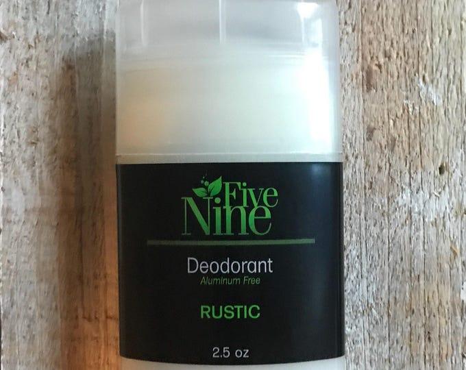 Deodorant Men's Deodorant Aluminum Free phalate Free Paraben Free Cruelty Free Rustic Five Nine